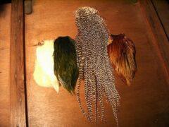 Fliegenbinden - Indische Bälge + Amisattel im Vergleich